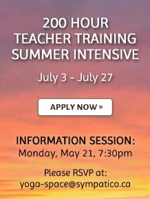 200 Hour Teacher Training Summer Intensive