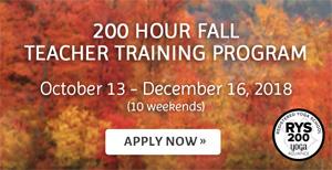200 Hour Fall Teacher Training Program