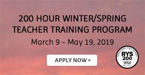 200 Hour Winter/Spring Teacher Training Program