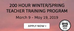 200 Hour Winter/Spring Teacher Training Program