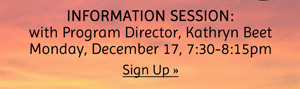 Information Session - sign up now