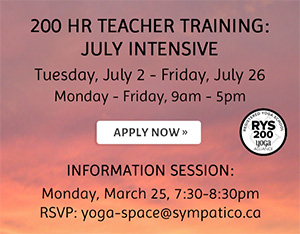 200 Hour Teacher Training: July Intensive