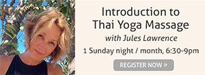 Introduction to Thai Yoga Massage