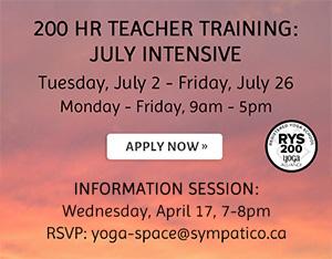 200 Hour Teacher Training July Intensive