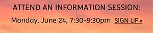Info session: June 24 sign up