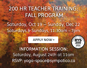 200 Hour Teacher Training Fall Program Info Session Dates