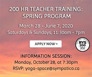 200 Hour Teacher Training: Spring Program - March 28 - June 7, 2020 / Apply Now