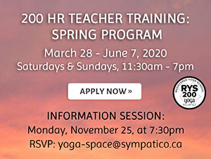 200 Hour Teacher Training: Spring Program - March 28 - June 7, 2020 / Apply Now