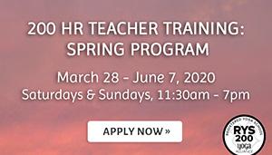 200 Hour Teacher Training Spring Program. Apply Now