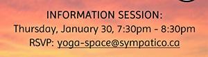 Information Session: Jan 30, 7:30pm