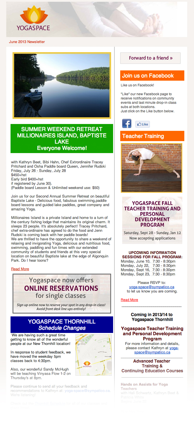 June 2013 Newsletter example