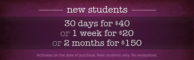 30 days for $30 New Students