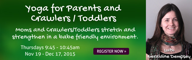 yoga for parents and crawlers/toddlers