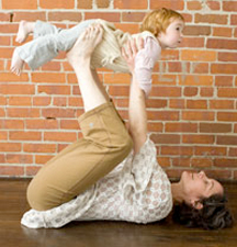 yoga for parents with mobile children
