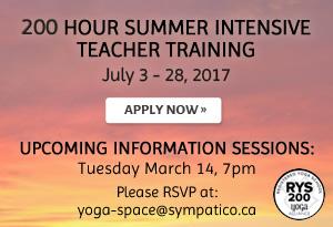 200 Hour Summer Intensive