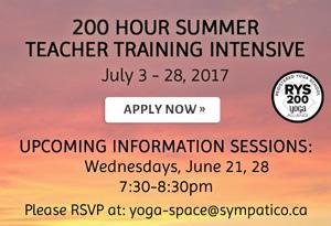200 Hour Summer Teacher Training Intensive