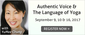 authentic voice and the language of yoga
