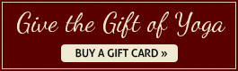 Give the Gift of Yoga - Buy a Gift Card